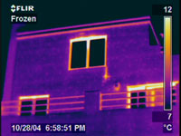 Infrared Image Of House